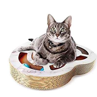Heart-Shaped Scratcher Cat Toys Bell Balls Interactive
