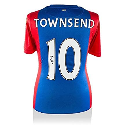 aac9045b9337 Andros Townsend Signed Crystal Palace Shirt - 2016 2017 Number 10 Autograph  - Autographed Soccer Jerseys at Amazon s Sports Collectibles Store