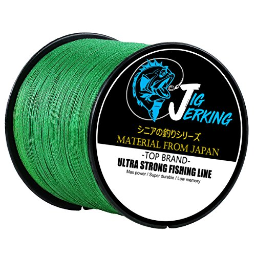 Jig Jerking SUPER POWER 4/8 Strands Braided Fishing Line 100% PE with ZERO Stretch & Abrasion Resistant (500M/547Yds 20Lb 30Lb 50Lb 80Lb 100Lb) – MUST HAVE !