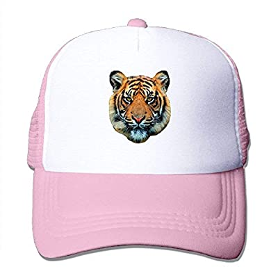 Tiger Head Adjustable Snapback Baseball Cap Mesh Trucker Hat by cxms