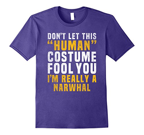 Group Halloween Costumes For Tweens (Mens Narwhal Funny Halloween Shirt Costume Easy Tween Kids Adult Small Purple)