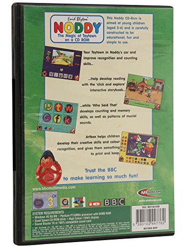 Noddy Education The Magic Of Toytown On A Cd Rom For Kids Amazon