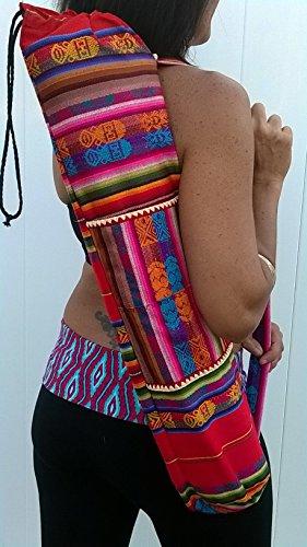 Incan Yoga Mat Bag Fair Trade made in Ecuador (Red) (Red)