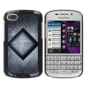 Paccase / SLIM PC / Aliminium Casa Carcasa Funda Case Cover para - Grey Black Pattern Square - BlackBerry Q10