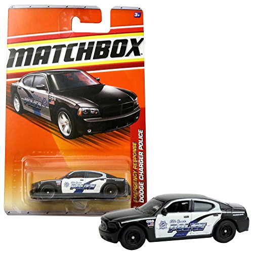 Matchbox Year 2010 Emergency Response Series 1:64 Scale Die Cast Metal Car #58 - Unit 099 Elk Grove City DODGE CHARGER POLICE Cruiser T8948