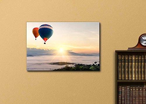 Beautiful Scenery Landscape Hot Air Balloon Over Sea of Mist Wall Decor