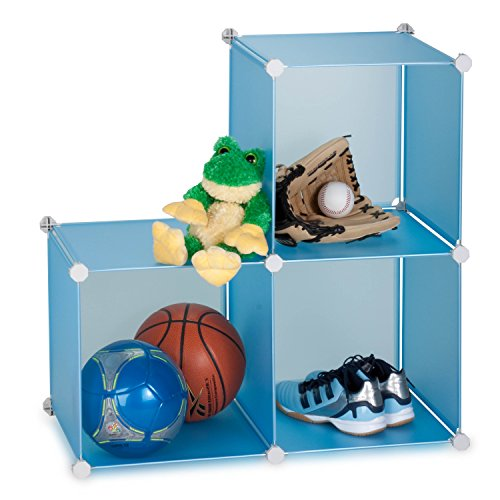 Honey-Can-Do SFT-01466 3-Cube 14-Inch Storage Unit, Sturdy Storage Solution, Blue (Honey Can Do Storage Cubes compare prices)