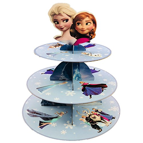 Betop House 3-Tire Frozen Themed Party Cupcake Dessert Stand -