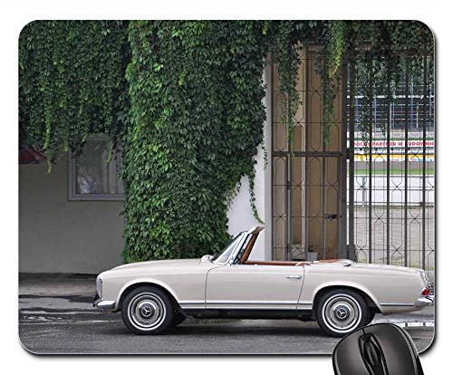 Mouse Pads - W113 Mercedes Pagoda Convertible Car Sports Car