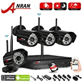 ANRAN 4CH WIFI NVR H.264 2.0 Megapixel Wireless WIFI Network IP Security Camera System with 4 of 1080P HD Outdoor Indoor IR Night Vision Camera Easy iPhone Mobile View 2TB Hard Drive