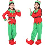DREAMOWL 5PCS Christmas Costumes For Kids Elf Clothing Sets Performance Party Suit