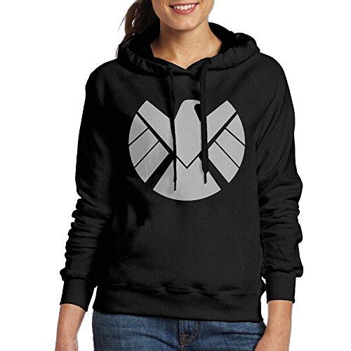 UFBDJF20 Agent Of Shield Logo Hoodie For Women M Black