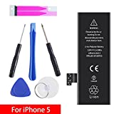 GOGO Roadless iPhone 5 Battery Replacement Kit, Complete Tool Kit & Adhesive, High