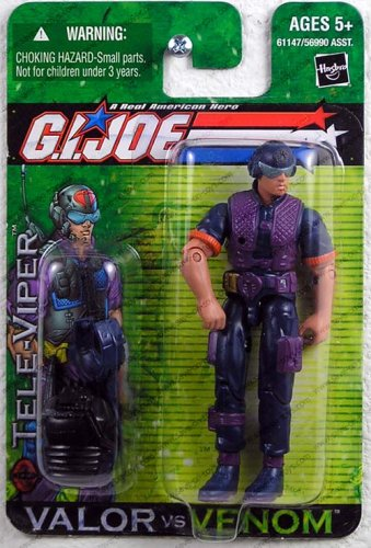 G.I. Joe 2004 A Real American Hero Valor Versus Venom 4 Inch Action Figure : Tele-Viper with Hi-Tech Communication Helmet, Radio, Backpack, Pistol with Silencer and Supressed Sub-Machine Gun