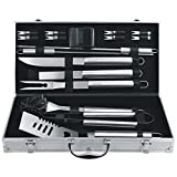 BBQ Grill Tools Set Barbecue Accessories by KANGORA - Complete Stainless Steel Outdoor Grilling Kit