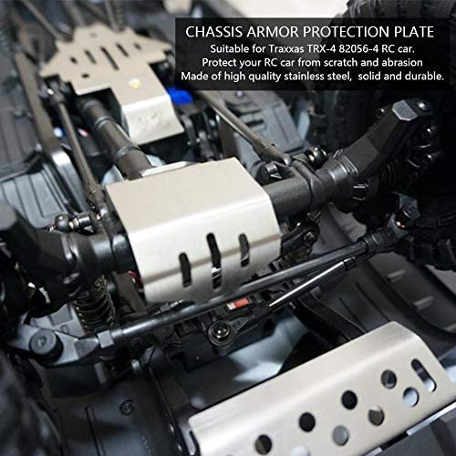 V GEBY RC Car Chassis Armor, RC Car Chassis Protection Skid Plate para Traxxas TRX4 82056-4 RC Car