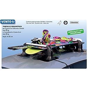 GEV A8940 Vento 5 Lot de 2 Supports magnétiques pour Skis, antivol