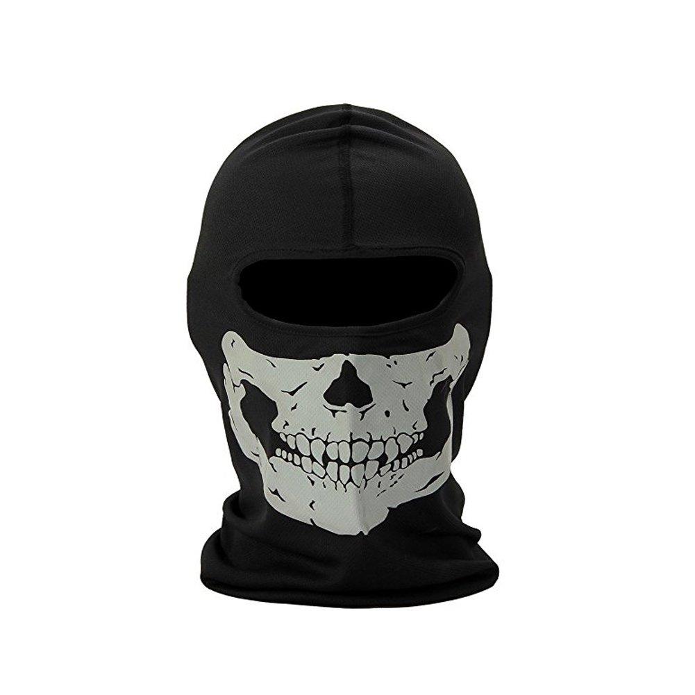 FB Sport – Dehnbare Totenkopf-Maske– Schlauchschal/Sturmhaube für das Motorrad-, Snowboard-, Ski- oder Radfahren