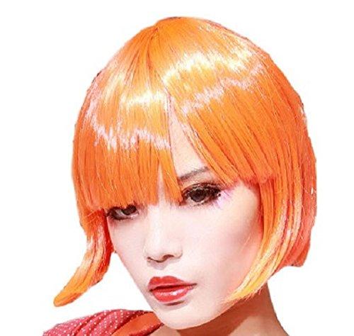 Leeloo Wig Cosplay Fifth Element Costume Props Orange Short