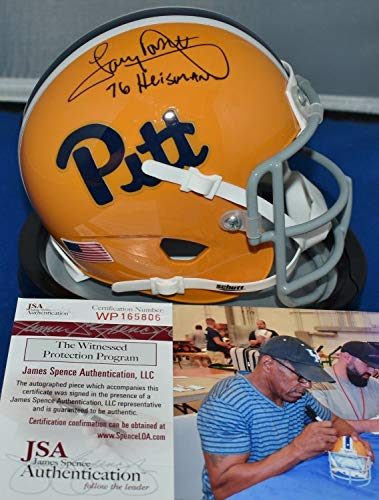 (Tony Dorsett Autographed Signed Memorabilia 76 Throwback Mini Helmet Pitt Panthers 1976 Heisman - JSA Authentic)