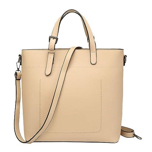 c9aaa7b99e Top Handle Bags For Womens Crossbody Handbags Leather Shoulder Tote  Designer Bag Satchel Bag Business Beige