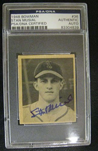 1948 Bowman Stan Musial ROOKIE AUTOGRAPH Signed Auto Card Certified - PSA/DNA Certified - Baseball Slabbed Rookie Cards ()