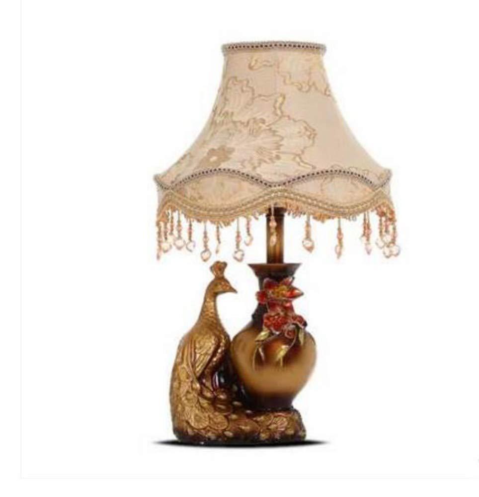 HOYSGS Höhe Qualität Luxus Schwarz Kristall Tischlampe Schlafzimmer Nachttischlampe Lampen Kurze Dekoration LED Tischlampe