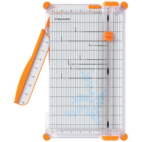 - Fiskars 152490-1004 SureCut Deluxe Craft Paper Trimmer, 12 Inch