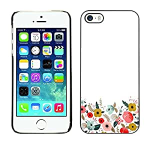 Soft Silicone Rubber Case Hard Cover Protective Accessory Compatible with Apple iPhone? 5 & 5S - minimalist clean field flowers