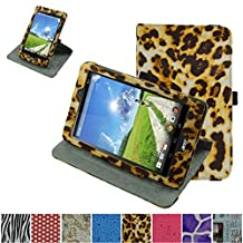 """Acer Iconia One 8 B1-810 / Tab 8 A1-850 Rotating Case,Mama Mouth 360 Degree Rotary Stand With Cute Lovely Pattern Cover For 8"""" Acer Iconia One 8 B1-810 / A1-850-13FQ Tablet,Leopard Brown"""