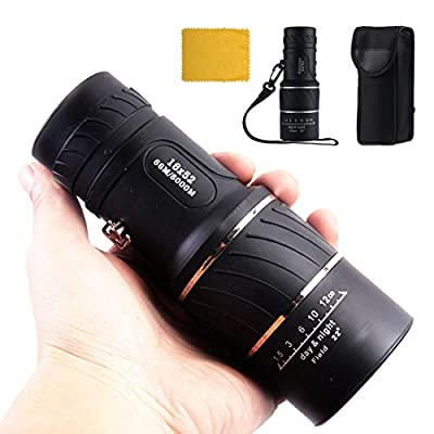 ICOOLTECH 16x52 Dual Focus Monocular Zoom Telescope / Monocular Scope for Hunting Camping Surveillance from ICOOLTECH