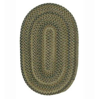 (Rustica Grecian Green Rug Rug Size: 2' x 11')