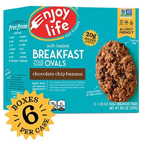 Enjoy Life Gluten Free Nut Free & Vegan Breakfast Cookies, Chocolate Chip Banana, 6 Count