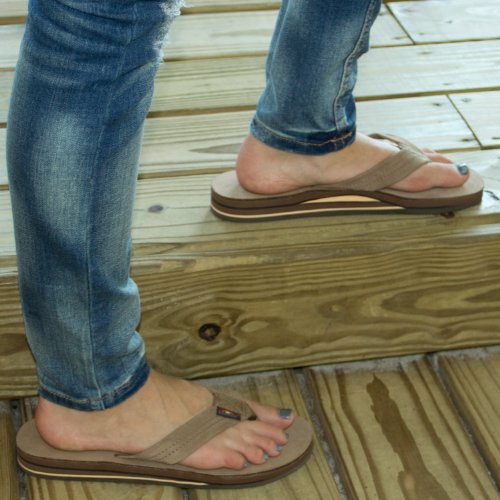 ab136000b Rainbow Sandals 301ALTS Womens Double Layer Premier Leather Dark Brown  Leather Small   5.5-6.5