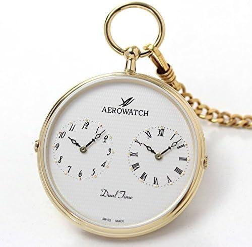 AERO(アエロ) デュアルタイム 懐中時計 クォーツ 05826 JA02【正規輸入品】