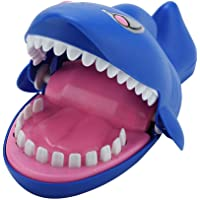 Fdit ABS Electric Shock Shark Bite Finger with Sound Light Scary Joke Trick Game Prank Tricky Toys (Blue, 8.66 x 5.13 x 4.33 inch)
