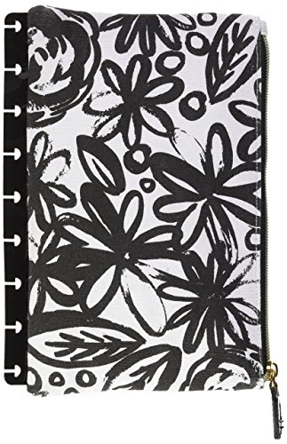 - me & my BIG ideas  PLS-09 Create 365 The Happy Planner Snap in Pouch, Bold Black Flowers With Black Pouch