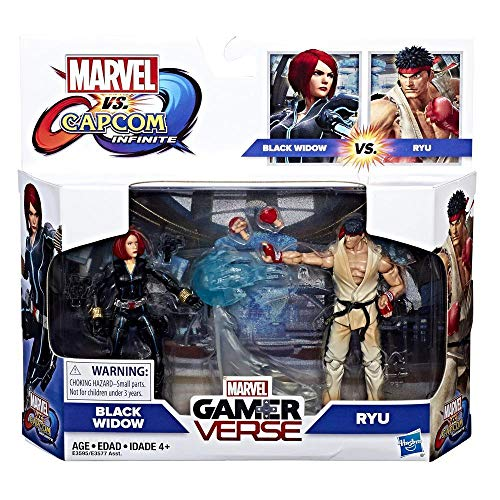 M arv el Gamerverse Black Widow Vs. Ryu Exclusive - Marvel Action Figure 2 Pack with Accessories