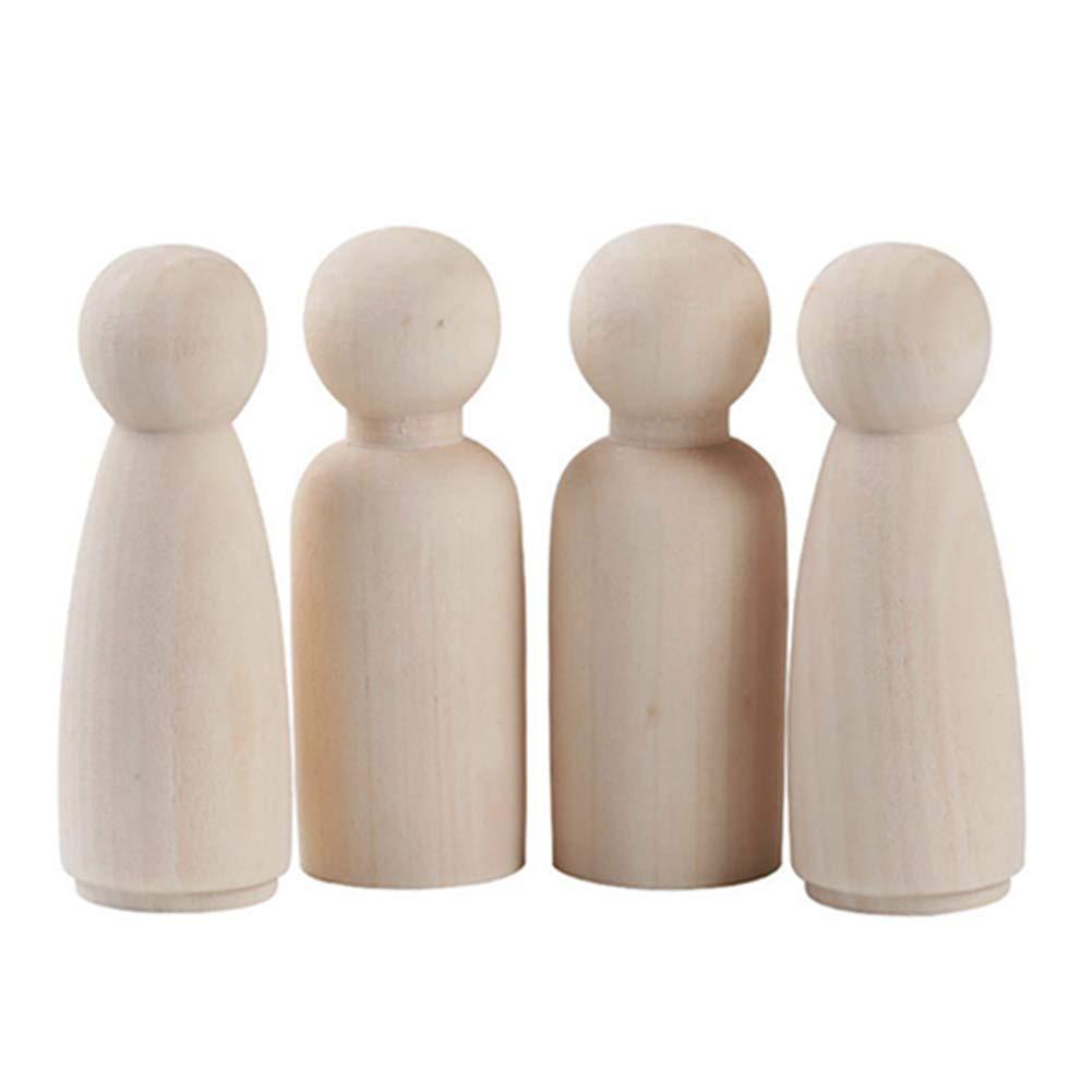 Egurs Holzfiguren 10 St/ück 75mm DIY Figuren 5*M/ännlich +5*Weiblich