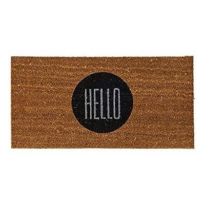 """Bloomingville 31-1/2""""L x 15-3/4""""W Coir Doormat with """"Hello"""""""