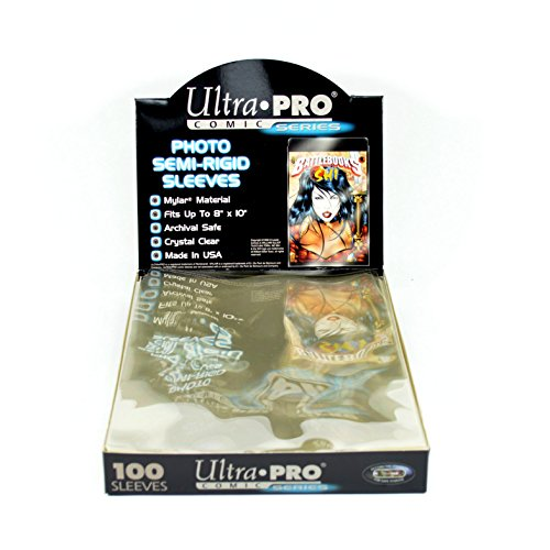 Ultra Pro Comic Series 8x10 Photo Semi Regid Sleeves Box (100 Sleeves) #81299