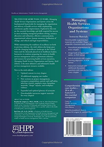 Managing Health Services Organizations and Systems