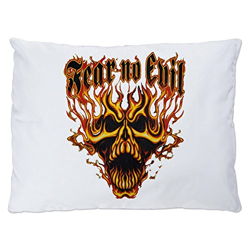 Flaming Skull Chopper (Outdoor Luxury Plush Dog Bed Fear No Evil Flaming Skull)