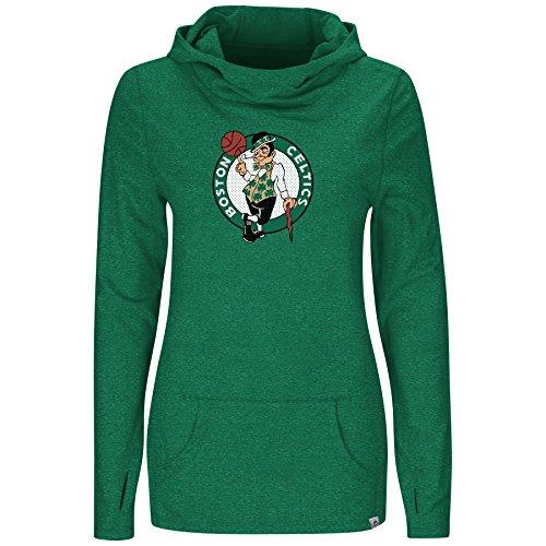 Boston Celtics Majestic Womens We Play To Win Cowl Neck Hoody (X-Large) - Celtics Cheerleaders Costumes