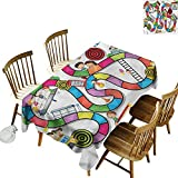 Sillgt Waterproof Table Cover Board Game Kids Play Notebook Paper High-end Durable Creative Home 60' W x 84' L