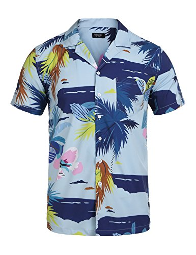 a9d9557d Search results. sunny's luxury shirts. COOFANDY Men's Summer Printed Shirt  Short Sleeve Beach Shirts Button Down Aloha ...