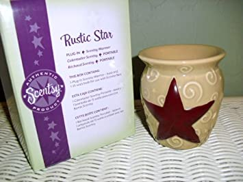 Scentsy Rustic Star Plug In Warmer For Melting Scented Wax