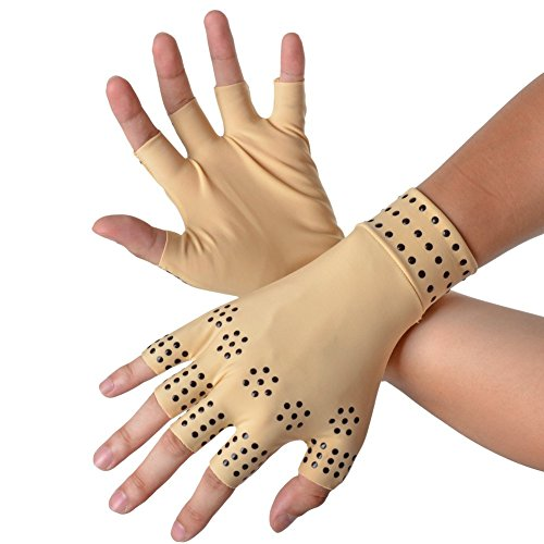 Gent House Arthritis Compression Gloves With Magnets Decrease Pain Ladies Size Small/Medium (Magnetic Arthritis Gloves)