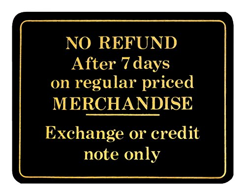 Store Policy Sign