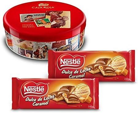 Nestlé Caja Roja (250 g) + Nestlé Chocolate Relleno Dulce de Leche (Pack de 2 x 240 g): Amazon.es: Alimentación y bebidas